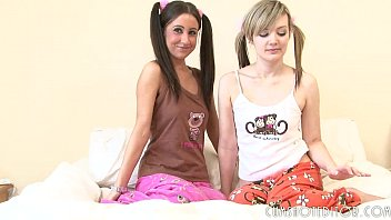 horny blonde teen licks and fingers her brunette friend