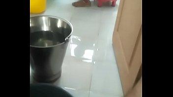 indian babhi cloth washing in toilet