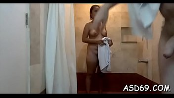 thai girl takes off her raiment and undies.