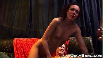 hot slut slammed in orgy
