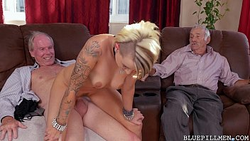 young girl gets backstage pass from horny old.