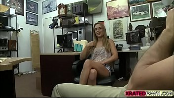 lucky pawn owner makes hot babe suck and.