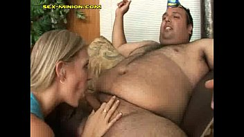 blonde rides on fat guys small.
