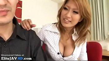 japanese busty milf takes big cum load -.