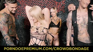 crowd bondage - first time domination fuck for.