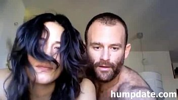 horny amateur couple having sex on.