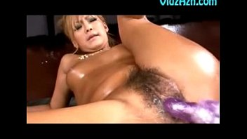 oiled asian hotty gets pussy fuck.