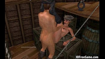 a hot 3d pirate babe gets fucked by.