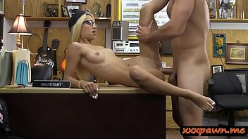petite blonde teen with glasses gets fucked by.