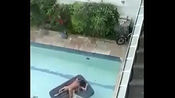 my neighbors fucking in the pool - mis.