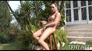 busty tranny playgirl gets wild