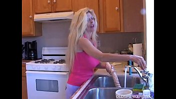 busty old blonde spunker loves playing with her.