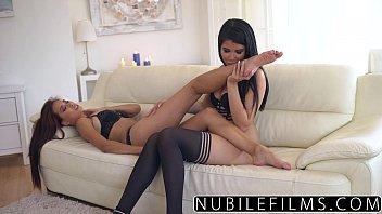 nubilefilms - sexy lesbians make each.