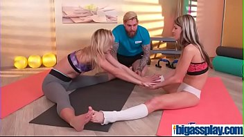 girly buddies seduce gym instructor(cristal caitlin &amp_ gina.