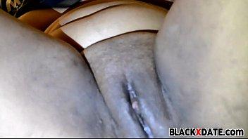 ebony babe dildoing her pussy