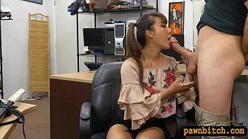 busty asian woman nailed by pawn.