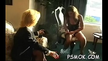 older slut blows a guy while smokin&#039_ a cigarette
