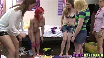 hazed teen in dorm room