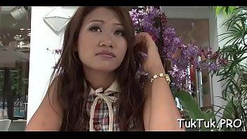 slim thai cutie shows off her banging skills.