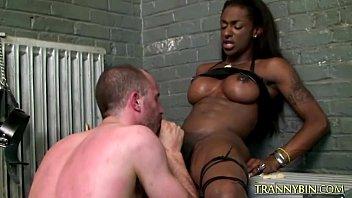 white slave sucks black tranny cock