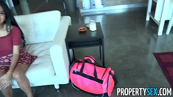 propertysex - horny couch surfing woman takes advantage.