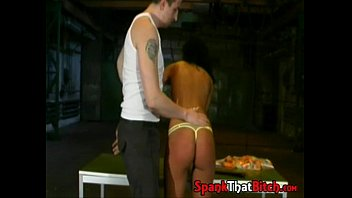 dungeon master spanks his cute slave.
