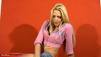 feminine t-girl pulls out long shemale shaft and.