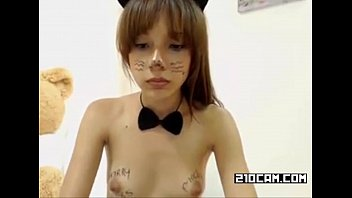 2 girls 1 dildo webcam cute cat girl.
