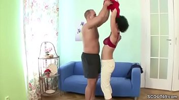 young boy seduce hairy step-mom to get his.
