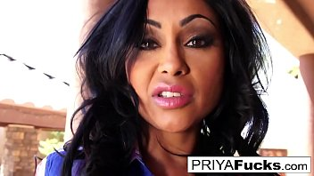 priya rai vibrates her tight indian.