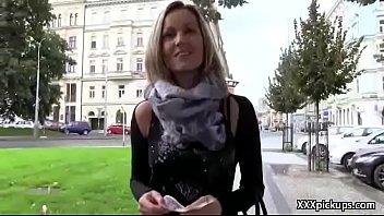 czech amateur slut fuck tourist in public for.
