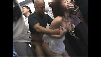 japanese schoogirl gangbanged in the subway.