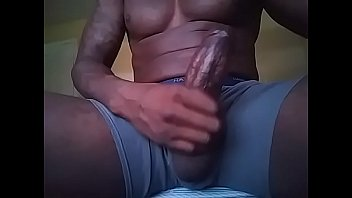 jacking this fat black dick