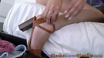 blonde gets bbc creampie