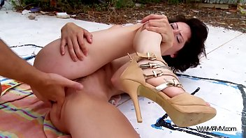 party hardcore outdoors with two super horny sluts.