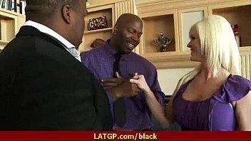 horny milf gets her pussy split by black.