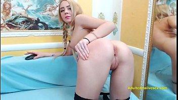 russian blonde amateur fingering herself on live webcam.