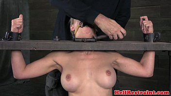 mouth gagged sub punished with whip