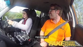 fake driving school sexy horny new learner has.