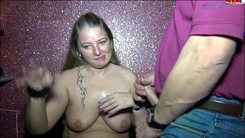 rosella sucks cock and swallows cum