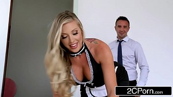 perfect maid samantha saint keeps the house clean.