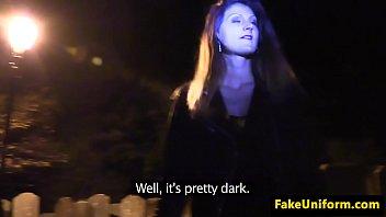 policeman pussyfucks drunk slut in graveyard