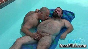 hairy big boys jerking rods by the pool.