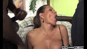 teri weigel takes two black cocks in front.