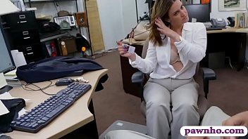 busty brunette woman nailed by pawn.