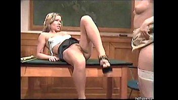 young lesbian shows her girl friend how to.