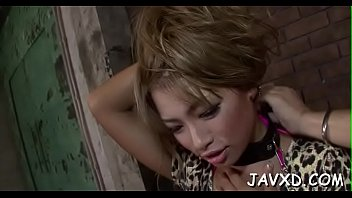 beautiful asian chick likes to get ball batter.