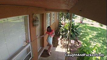 busty caught masturbating in strangers house