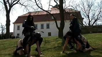a race with riding slaves - and mistress roberta