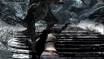 crazy bitch fucks a dragon